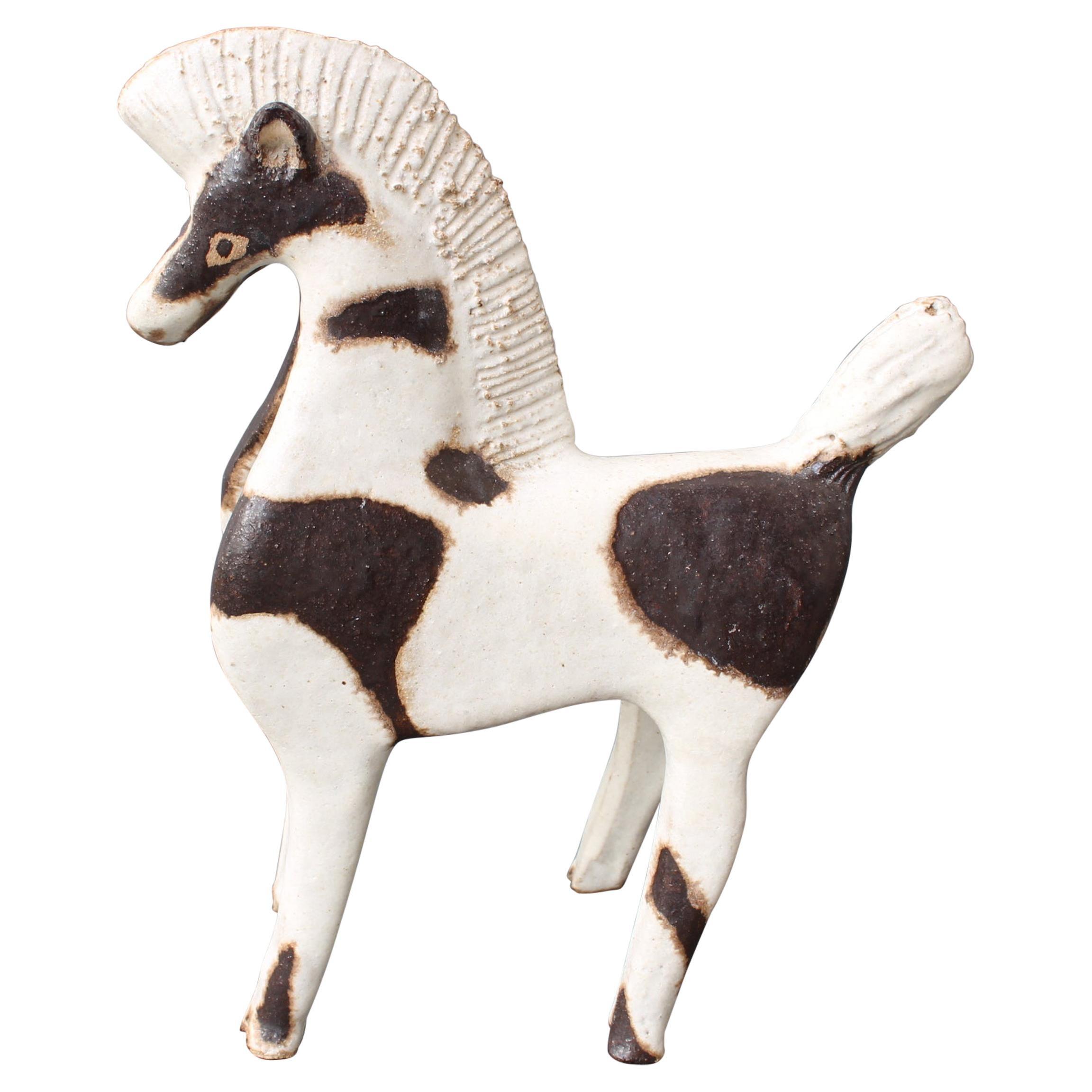 Ceramic Horse Sculpture by Bruno Gambone 'circa 1980s'