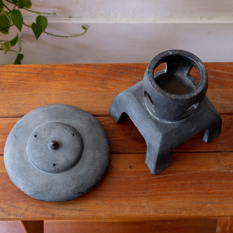 Mid-20th Century Ceramic Japanese Lantern, 1950s For Sale
