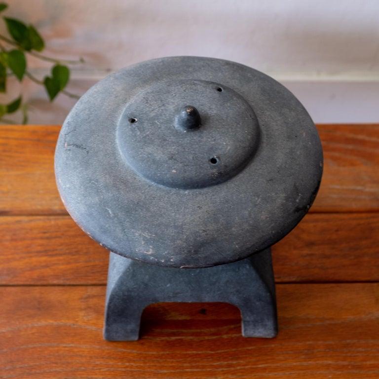 Terracotta Ceramic Japanese Lantern, 1950s For Sale
