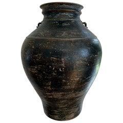 Ceramic Jar with Black Glaze Khmer Angkor Period