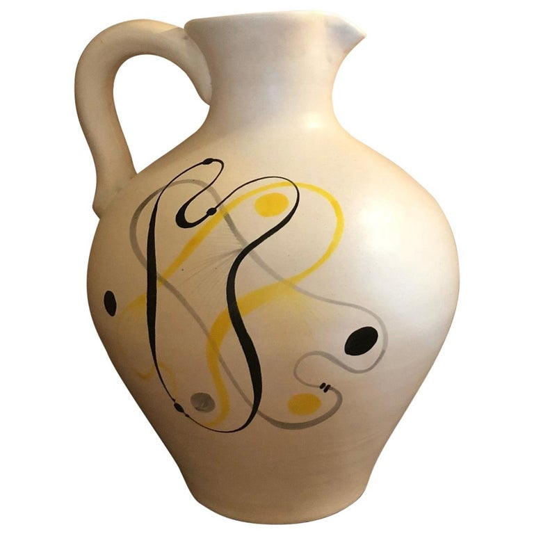 Ceramic Jug by André Baud, Vallauris For Sale