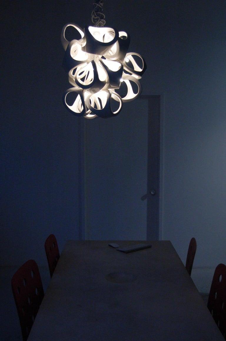 Ceramic Lamp 18 Grape Cluster Chandelier For Sale 1