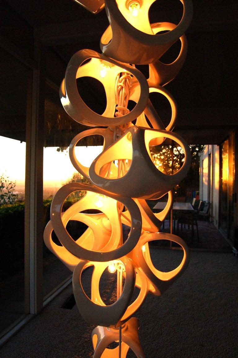Ceramic Lamp 18 Grape Cluster Chandelier For Sale 2