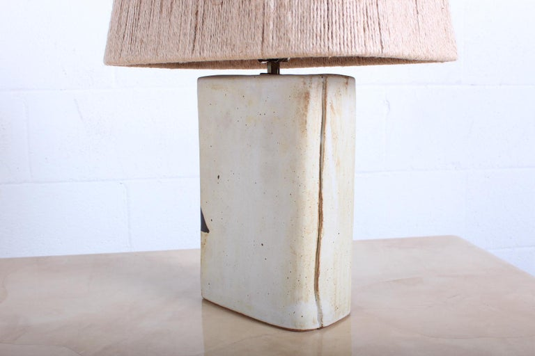 Ceramic Lamp by Charles Rothschild & Gloria Nepstead For Sale 6
