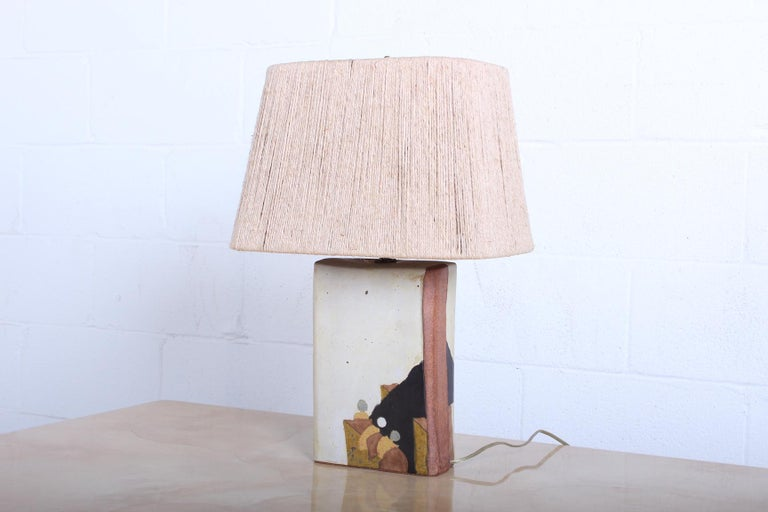 Ceramic Lamp by Charles Rothschild & Gloria Nepstead In Good Condition For Sale In Dallas, TX