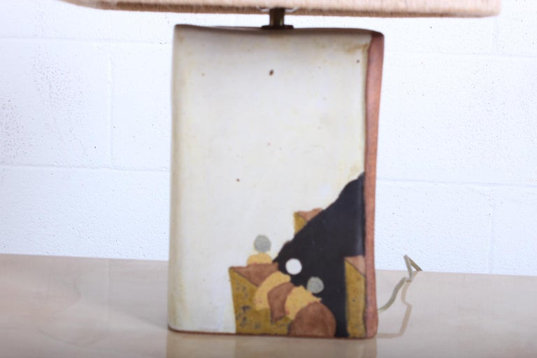 Ceramic Lamp by Charles Rothschild & Gloria Nepstead For Sale 1
