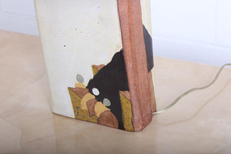 Ceramic Lamp by Charles Rothschild & Gloria Nepstead For Sale 2