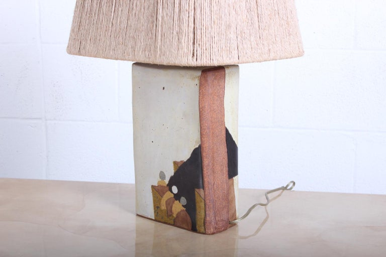 Ceramic Lamp by Charles Rothschild & Gloria Nepstead For Sale 3
