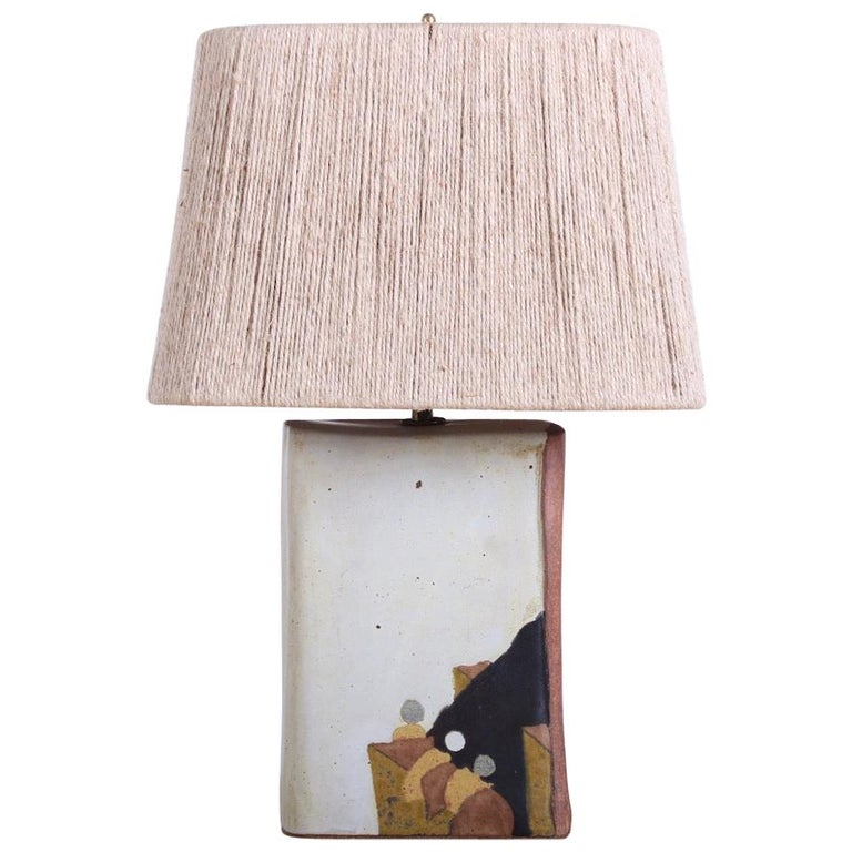 Ceramic Lamp by Charles Rothschild & Gloria Nepstead For Sale