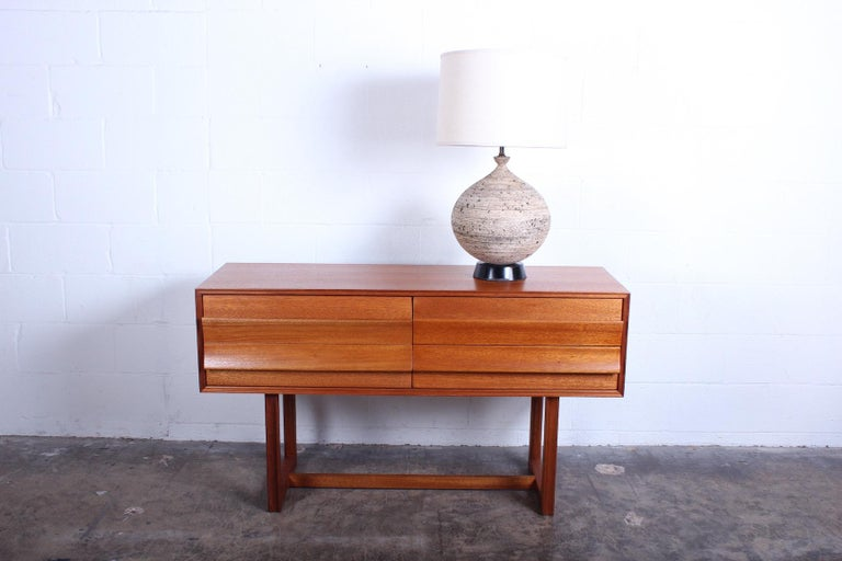 A wonderful table lamp by Edward D. Jay of California, 1950s. Shade not included.