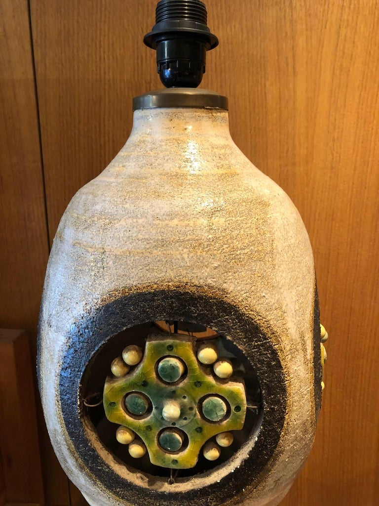 Ceramic lamp by Georges Pelletier For Sale 1