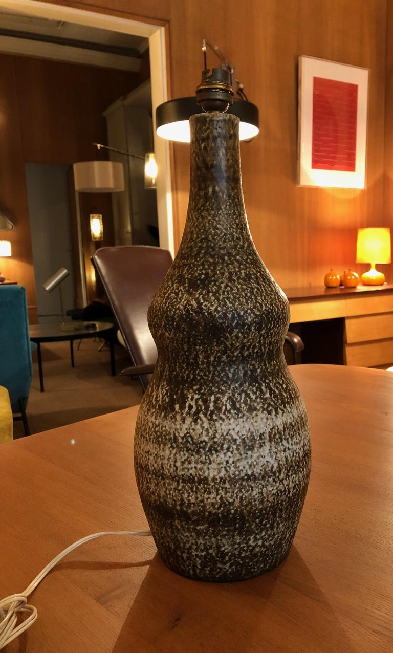 Ceramic Lamp by Les 2 Potiers In Good Condition For Sale In Paris, FR