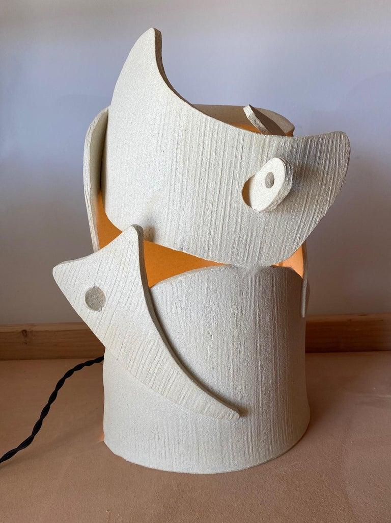 Ceramic lamp by Olivia Cognet Materials: Ceramic Dimensions: H around 40-50 cm tall  Each of Olivia's handmade creations is a unique work of art, the snapshot of a precious moment captured in a world of fast 'everything'. Since moving to Los
