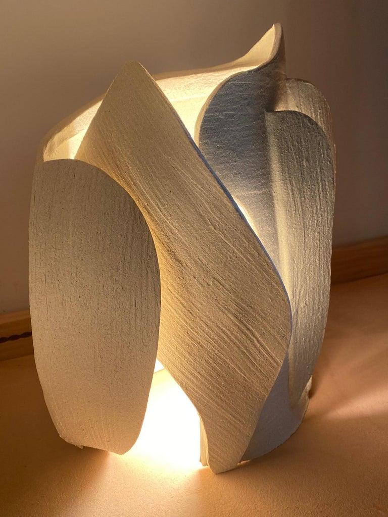 Modern Ceramic Lamp by Olivia Cognet For Sale