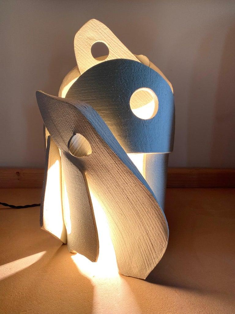 American Ceramic Lamp by Olivia Cognet For Sale