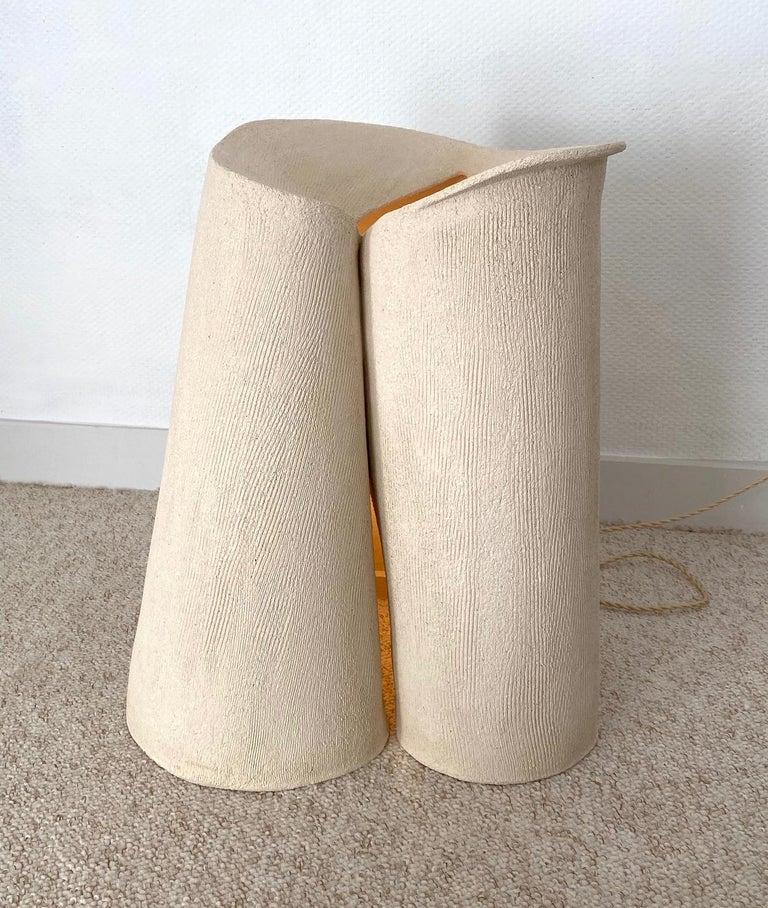 Ceramic large lamp by Olivia Cognet Materials: Ceramic Dimensions: H around 50-60 cm tall   Each of Olivia's handmade creations is a unique work of art, the snapshot of a precious moment captured in a world of fast 'everything'. Since moving to