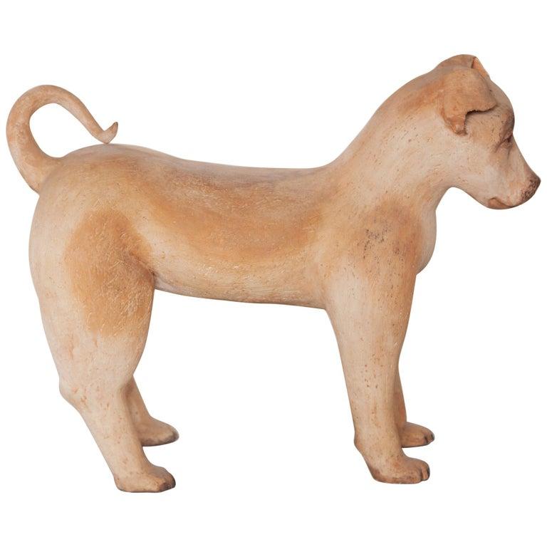 Ceramic Lifesize Wagging Dog, 1980s, Belgium For Sale