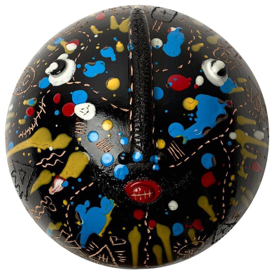 Ceramic Mask Signed Both by DaLo & Street Artiste Cumbone