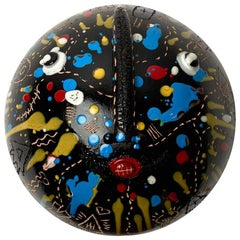 Ceramic Mask Signed Both by DaLo & Street Artiste Cumbone