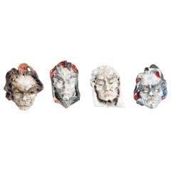 Ceramic Masks by Fontana, Italy
