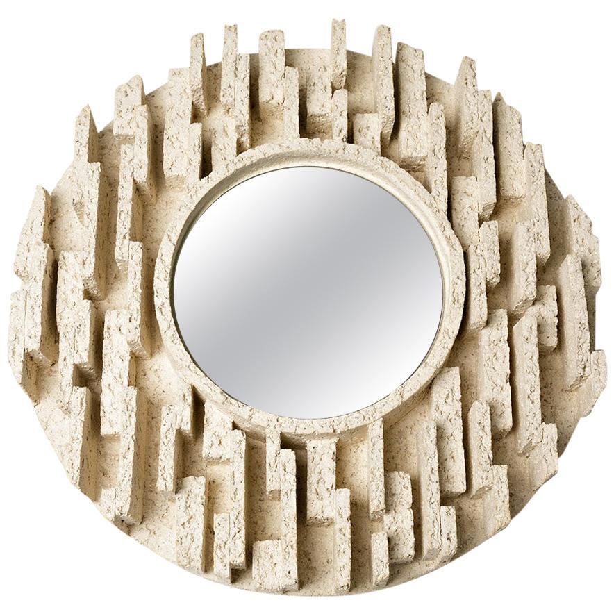 Ceramic Mirror by Denis Castaing, 2019