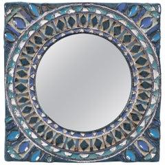 Ceramic Mirror by Les Argonautes circa 1960 Vallauris