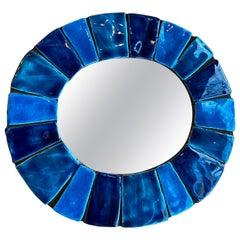 Ceramic Mirror by Mithé Espelt, France, 1960s