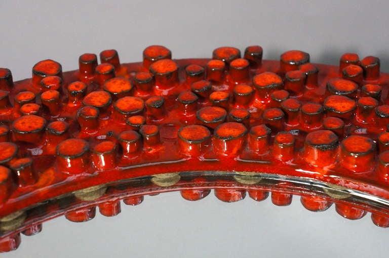 20th Century Ceramic Mirror by Oswald Tieberghien For Sale
