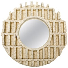 """Ceramic Mirror Entitled """"Occulus"""" by Denis Castaing, 2019"""