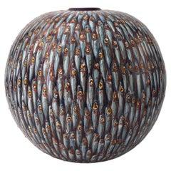 Ceramic Moon Jar Hand Painted Majolica Italy Contemporary, 21st Century