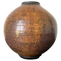 Ceramic Moon Jar Vase by Otto Heino