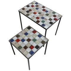 Ceramic Nesting Tables, Attributed to Mado Jolain, circa 1950, France