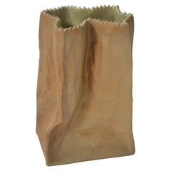 Ceramic Paper Bag Vase Designed by Tapio Wirkkala for Rosenthal, Germany, 1970s