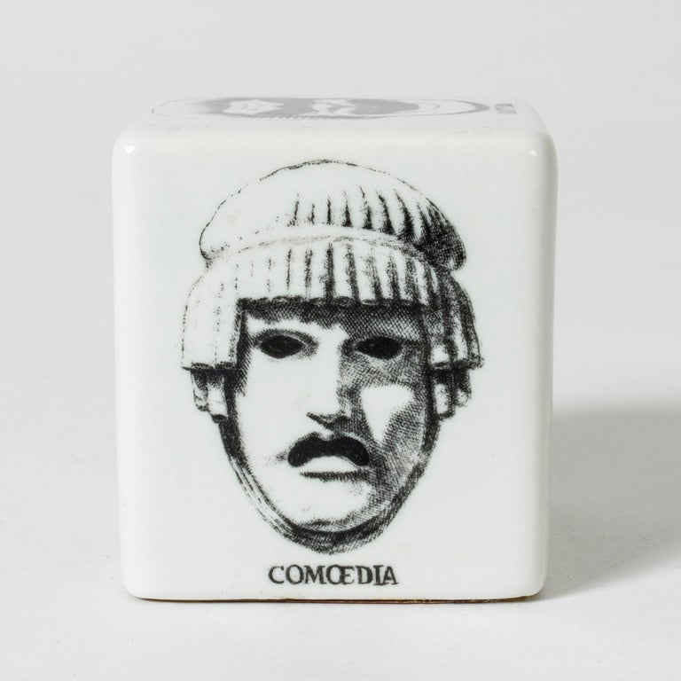 Mid-Century Modern Ceramic Paper Weight by Piero Fornasetti