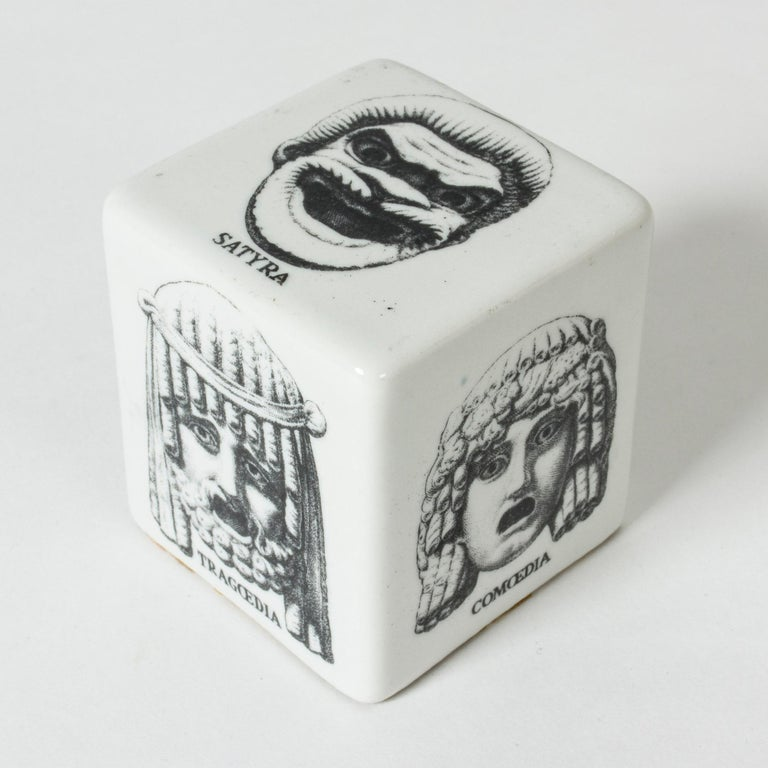 Italian Ceramic Paper Weight by Piero Fornasetti