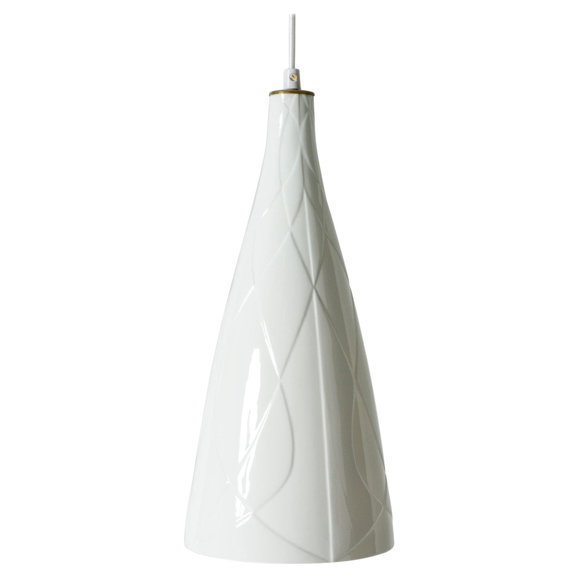 Ceramic Pendant Ceiling Lamp by Carl-Harry Stålhane for Rörstrand, Sweden, 1950s