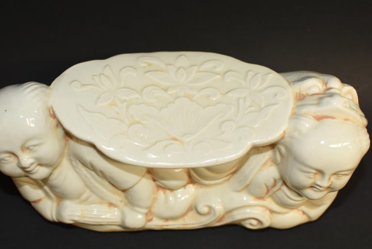 20th Century Ceramic Pillow Chinese Ding Ware Song Dynasty Style For Sale