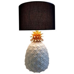 Ceramic Pineapple Table Lamp Made in Italy