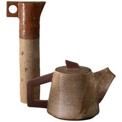 Ceramic Pitcher and 'Tea' Pot, France, 1960s