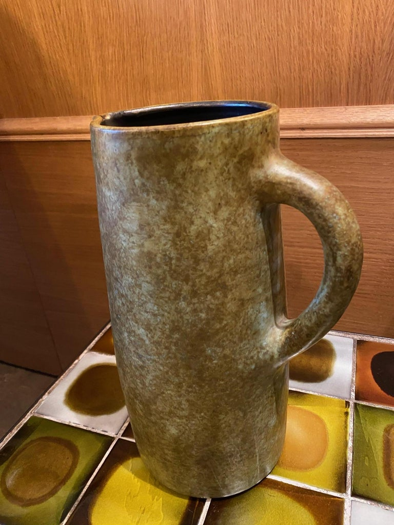 French Ceramic Pitcher by Les 2 Potiers, France, 1960s For Sale