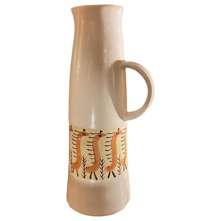 Ceramic Pitcher by Les Argonautes, France, 1960s For Sale