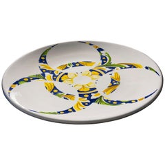 Ceramic Plate by Pantoù Ceramics Hand Painted Glazed Earthenware Contemporary