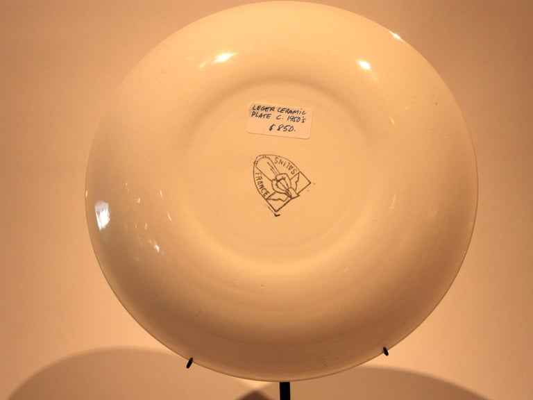 French Ceramic Plate from Fernand Leger's Acrobats Series, circa 1950s For Sale