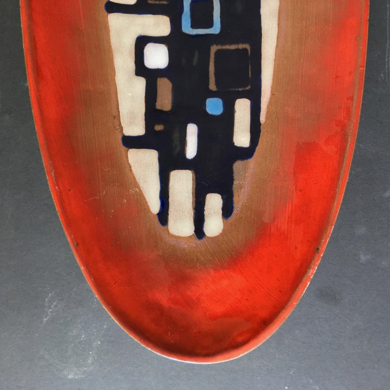 Mid-20th Century Ceramic Plate or Wall Decoration by Oswald Tieberghien, Belgium, 1960s For Sale