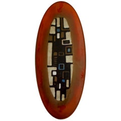 Ceramic Plate or Wall Decoration by Oswald Tieberghien, Belgium, 1960s