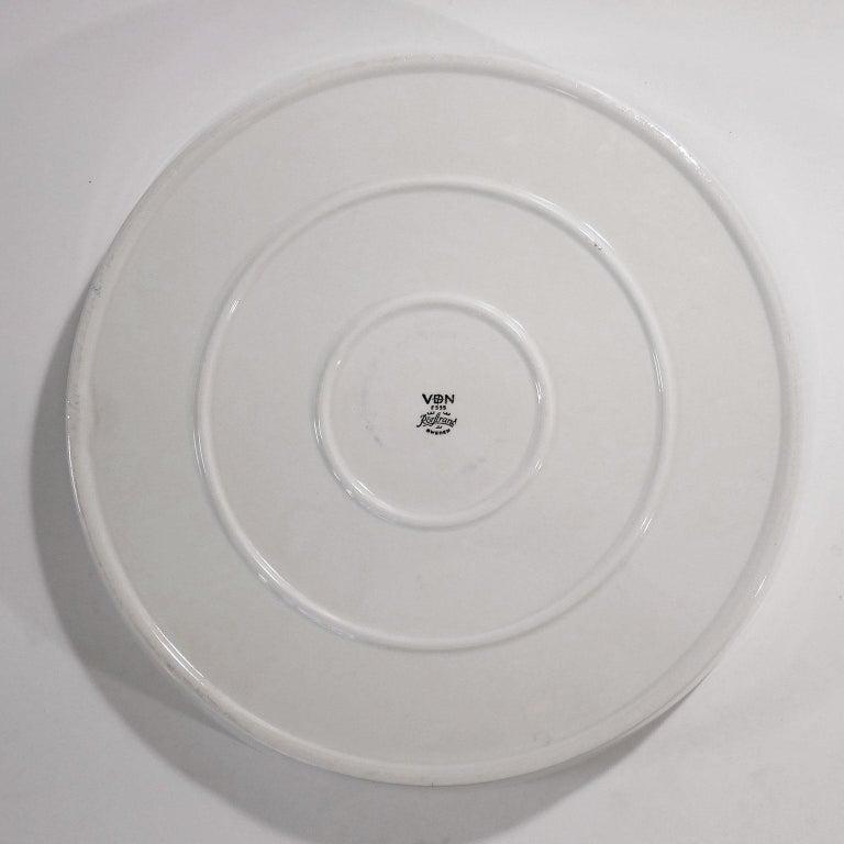 Scandinavian Modern Ceramic Plate 'Sarek', Design Olle Alberius for Rörstrand For Sale