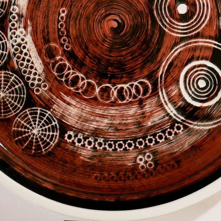 Swedish Ceramic Plate 'Sarek', Design Olle Alberius for Rörstrand For Sale