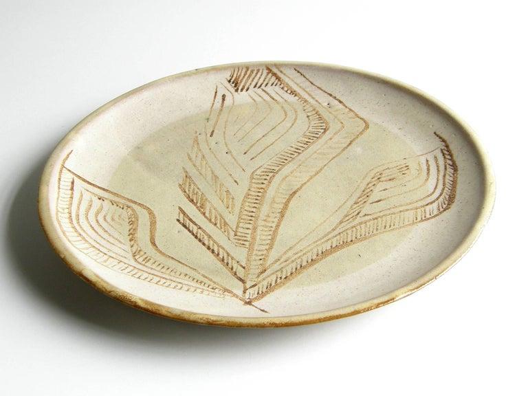 Mid-Century Modern Ceramic Platter by Lee Rosen for Design Technics For Sale
