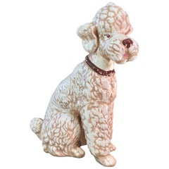 Ceramic Poodle with Jeweled Collar
