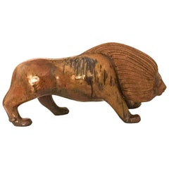 Ceramic Potter Lion Sculpture by Loet Vanderveen